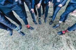 Gruppenfoto mit den Bestmen und ihren Socken